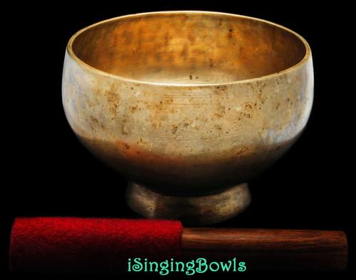Antique Tibetan Stem style singing bowl #8820