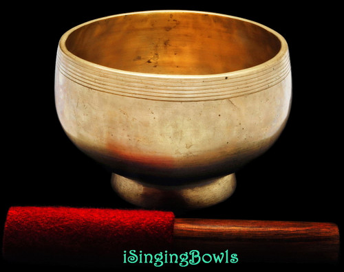 Antique Tibetan Stem style singing bowl #8822