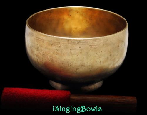 Antique Tibetan Stem style singing bowl #8894