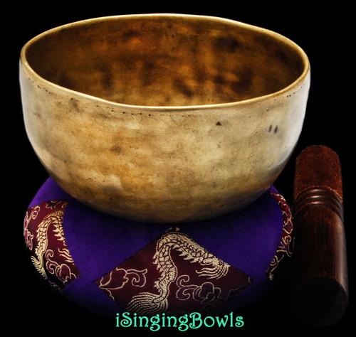 Antique Tibetan singing bowl #8836