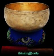 Antique Tibetan Lotus-style singing bowl #8883