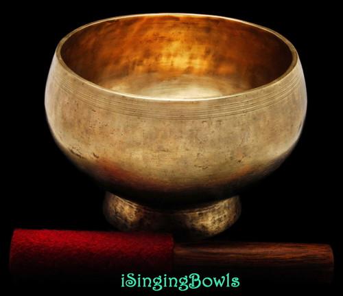 Antique Tibetan Stem style singing bowl #8895