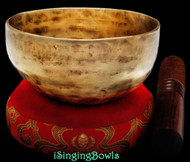 "New Tibetan Singing Bowl #8961: Cup 5"",  G4 & C#6."