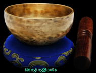 "New Tibetan Singing Bowl #8963: Cup 4 1/2"",  D5 & G#6."