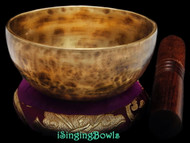"New Tibetan Singing Bowl #8971: Cup 4 3/4"",  B4 & E6."