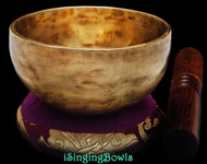 "New Tibetan Singing Bowl #8981: Cup 4 5/8"",  D5 & G6."
