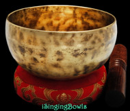 "New Tibetan Singing Bowl #8982: Cup 5 1/2"", E4 & A#5."