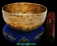"New Tibetan Singing Bowl #8991: Cup 4 5/8"", A4 & D6."