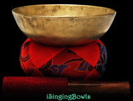"Antique Tibetan Singing Bowl #8832:   LW 7 1/8"", circa 17th Century, E3 & A#5."