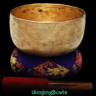 "Antique Tibetan Singing Bowl #8886: Void 7 1/8"", circa 18th Century, F3 & B4."