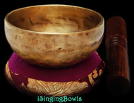 "New Tibetan Singing Bowl #8918: Cup 4 1/4"",  D5 & G#6."