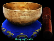 "New Tibetan Singing Bowl #8924: Cup 4 1/8"",  D5 & G#6."