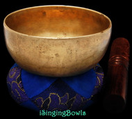 "Antique Tibetan Singing Bowl #9277:  Cup 4 3/4"", circa 18th Century, G4 & C#6."
