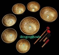 Tibetan Singing Bowl Set #50:  Chakra Master-Healing (7 pc.)