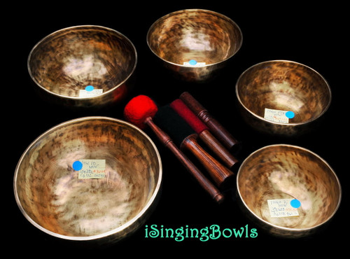 Singing Bowl Set #83: Pentatonic Rim (5 pc.)