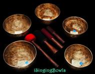 Singing Bowl Set #84: Pentatonic Rim (5 pc.)
