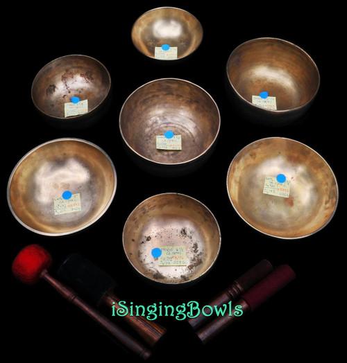 Antique Tibetan singing bowl set #86b