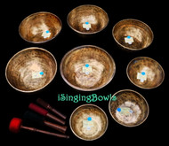 Chakra-tuned Tibetan Singing Bowl Set #71