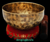 "New Tibetan Singing Bowl #8877 : Cup 5 1/2"",  C#4 & G5."