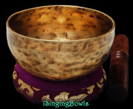 "New Tibetan Singing Bowl #8932: Cup 5 1/8"",  G4 & C6."