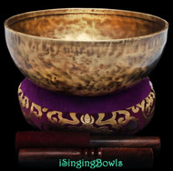 "New Tibetan Singing Bowl #9084 : Jambati 9 3/4"", C3 & G4."
