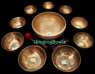 Singing Bowl Set #88: Alexandre Tannous Method (10 pc.)