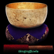 "Antique Tibetan Singing Bowl #9266 : Thado 7"", ca. 18th Century, F#3 & C5."