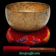 "Antique Tibetan Singing Bowl #9262 : Thado 7 1/4"", ca. 17th Century, F#3 & C5"