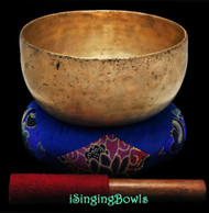 "Antique Tibetan Singing Bowl #9259 : Thado 7 1/4"", ca. 18th Century, F#3 & C5."