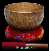 "Antique Tibetan Singing Bowl #9257 : Thado 7 1/4"", ca. 18th Century, F#3 & C5."