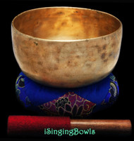 "Antique Tibetan Singing Bowl #9247 : Thado 7 1/2"", ca. 18th Century, F#3 & C5."
