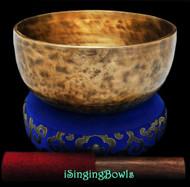 """New Tibetan Singing Bowl #9241 : Thadobati 7 1/2"""", G#3 & D5."""