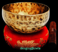 "New Tibetan Singing Bowl #8949 : Cup 5 5/8"", E4 & A#5."