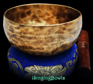 "New Tibetan Singing Bowl #8921: Cup 5 5/8"", F4 & A#5."