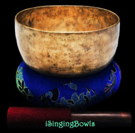 "Antique Tibetan Singing Bowl #8770 : Thado 7 1/8"", ca. 18th Century, F3 & A#5."
