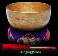 "Antique Tibetan Singing Bowl #8790 : Thado 7"", ca. 18th Century, E3 & A4."