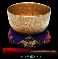 "Antique Tibetan Singing Bowl #8897 : Thado 6 3/4"", ca. 17th Century, F3 & A#4."