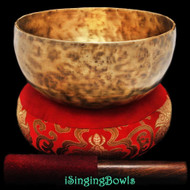 "New Tibetan Singing Bowl #9009 : Thadobati 7 1/2"", F#3 & C5."