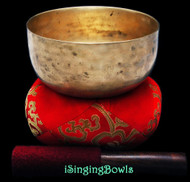 "Antique Tibetan Singing Bowl #8786 : Thado 6 3/8"", ca. 18th Century, E3 & G#5."