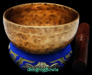 "New Tibetan Singing Bowl #8930 : Cup 5 1/4"", G4 & C#6."