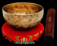 "New Tibetan Singing Bowl #8964 : Cup 4 1/8"", D5 & G#6."