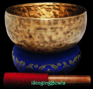 "New Tibetan Singing Bowl #9235 : Thadobati 7 3/4"", G#3 & D5."