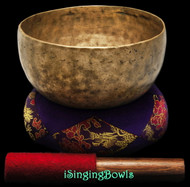 "Antique Tibetan Singing Bowl #9252 : Thado 6 7/8"", ca. 19th Century, G3 & C#5."