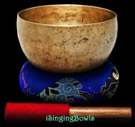 "Antique Tibetan Singing Bowl #9256 : Thado 6 5/8"", ca. 17th Century, A3 & D#5."