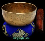 "Antique Tibetan Singing Bowl #9245:  Cup 4 1/4"", circa 18th Century, G#4 & D6."
