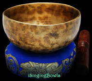 "New Tibetan Singing Bowl #8943 : Cup 5 5/8"", E4 & A#5."