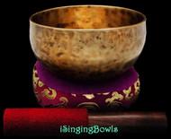 """New Tibetan Singing Bowl #9064 : Thadobati 6"""", C#4 & G5."""