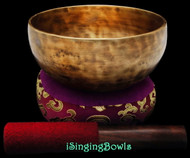 "New Tibetan Singing Bowl #9068 : Thadobati 6 1/2"", C#4 & G5."