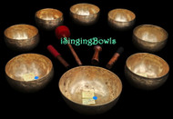 Antique Tibetan Singing Bowl Set #98