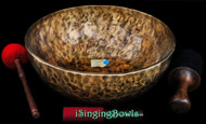 "New Tibetan Singing Bowl #9046b: Jambati 17 1/4"" Diameter, C#2 & G3."